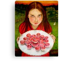 Alice's invitation Canvas Print
