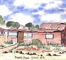 The Pink House (old miners cottage)Gwalia,Western Australia. by robynart