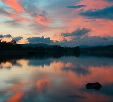 Sunset over Esthwaite by Simon Hathaway
