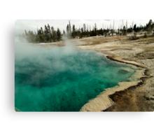Black Pool - West Thumb Basin - Yellowstone National Park Canvas Print