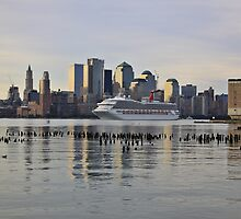 Carnival Triumph cruise ship on the Hudson Rv. by pmarella