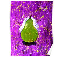 Pear on Purple. Poster