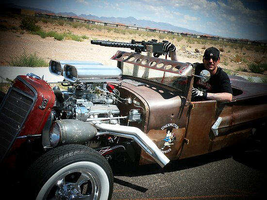 "Rat Rod Roadster "" Unexpected Surprise "".. by Rita  H. Ireland"