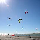 Raglan kite surfers by JaimeWalsh