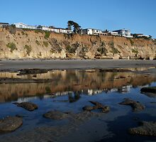 """Encinitas Beach Reflection""  by Tim&Paria Sauls"