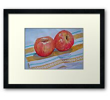 An apple a day... How about 2 a day? Framed Print
