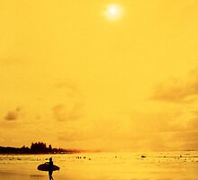 Yellow Surfer by John Violet