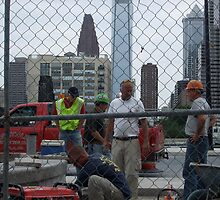 Men at work in Philly by joannadehart