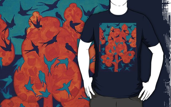 Birds Tee by fesseldreg