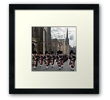 The Pipes and Drums of Lothian & Borders Police Force Framed Print