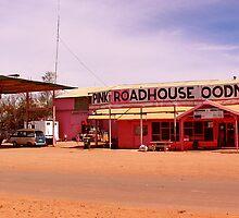 Pink Roadhouse, Oodnadatta Track by willeraus