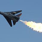 F-111 Dump and Burn Fly By by Daniel McIntosh