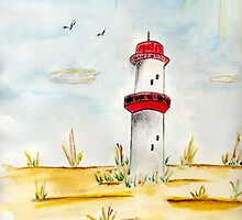 The Leaning Lighthouse by Anne Gitto