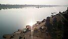 River Narmada at Maheshwar by Vivek Bakshi