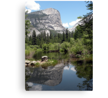 Mirror Lake Reflection of Mt. Watkins Canvas Print