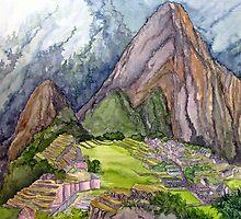 The Lost City of the Incas in Machu Picchu, Peru by BonnieSue