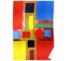 Abstract Squares #2 Poster