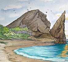 Pinnacle Rock on Bartolome Island, Galapagos by BonnieSue