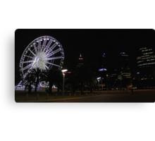 Perth Wheel At Night  Canvas Print