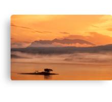 Ben Loyal Sunrise, Flow Country, Northern Scotland. Canvas Print