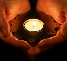 Candle in my hands by Jon Tait