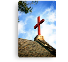 Cross Church Roof Canvas Print