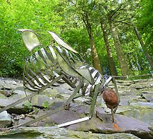 The Lake District: Grizedale Forest Sculptures Series - Fly & Spider by Rob Parsons
