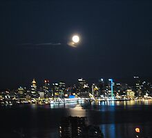 Vancouver, B.C., home of the 2010 Winter Olympics, at night by aruna