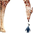 &quot;Licker with Penguin&quot; Giraffe Watercolor by Paul Jackson
