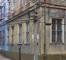 Power Lines and Buildings by Shubie