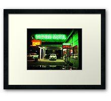 Wig Wam Motel Framed Print