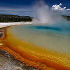 Sunset Lake - Black Sand Basin - Yellowstone by Stephen Beattie