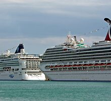 Cruise Shp At Miami Pier by longaray2