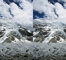 Nuptse and Everest Pinnacles 3D by Richard Heath