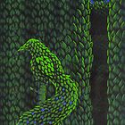 Bird Topiary Hedge by Donna Huntriss
