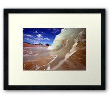 Blue Skies and Wet Sand Framed Print