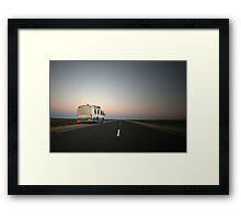 Lonely desert highway... Framed Print