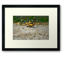 helicopter - version two Framed Print