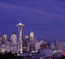 Seattle, Washington, at Dusk by Carol M.  Highsmith