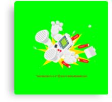 "8 Bit Buzz Bot v3.0.6 ""GameBoid""  Canvas Print"