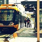Downtown Minneapolis Train by Toua Lee