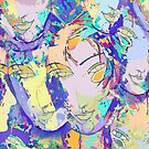 Echoed Faces Reflecting Colors of Joyous Dreams by Ivana Redwine