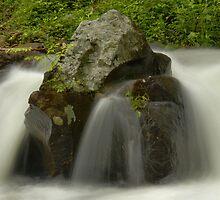 Water Movement, Raging Stream  by Stephen Vecchiotti