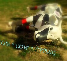 TEXAS COW ~ TIPPING ! ( JUST SAY NO...) by artist4peace