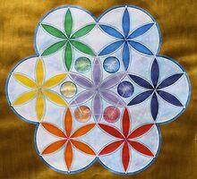 Mandala : Flower Chakras by danita clark