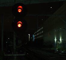 warning lights - Box Hill by thesoftdrinkfactory