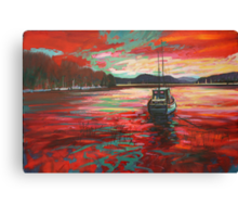Bellanoch Boats Canvas Print