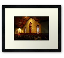 Stain Glass Windows Framed Print