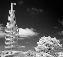 """Infrared View of """"Pops"""" on Route 66, Arcadia, Oklahoma by Carol M.  Highsmith"""