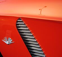 Red 'Vette quarter • Huntington Beach by PETER CULLEY